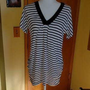 INC MP white and black mini dress